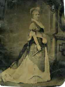 Pauline Stillman in her wedding dress