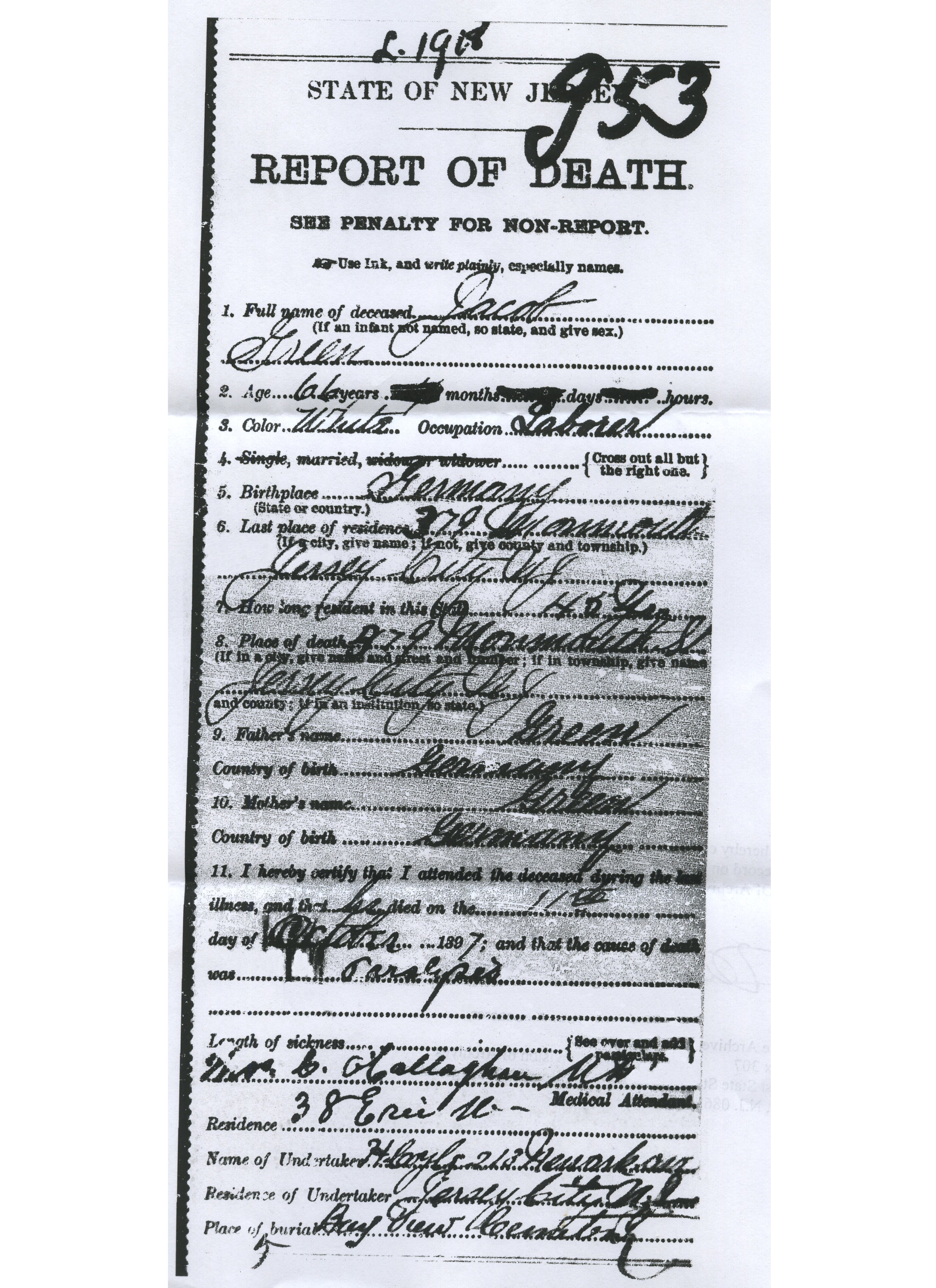 October 5 2010 Erbig And Green Death Records Wells Family Genealogy