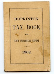Hopkinton Tax Book 1902