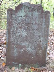Thompson Wells Lot #44: Thompson's stone