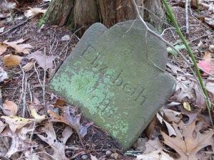 Thompson Wells Lot #44: Elizabeth's footstone