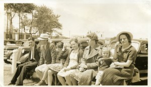 The little girl is my mom and the lady next to her in the glasses is my grandmother Florence (Weber) Wells