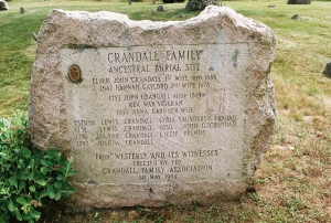 Old Crandall Family Cemetery, Westerly, RI