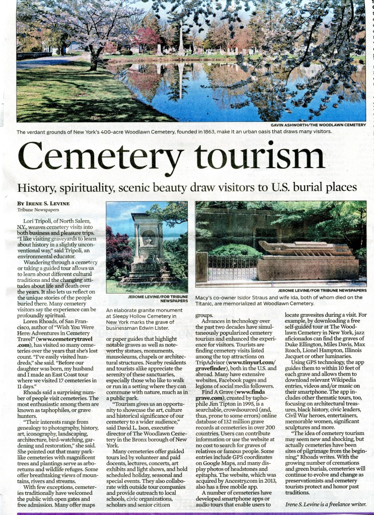 Cemetery Tourism