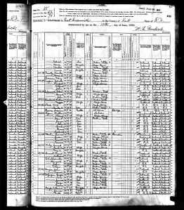 1880 US Federal Census: PAGE 1