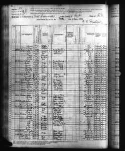 1880 US Federal Census East Greenwich Kent RI Geoghan Family