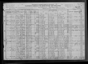 1920 US Fedeal Census NewHaven
