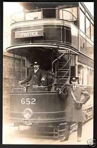 Partick-nr-Broomhill, Govan, Glasgow, Tram Car