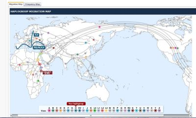 MtDna Migration Map